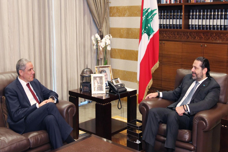سفير الاتحاد الاوروبي في لبنان رالف طراف يلتقي رئيس الوزراء سعد الحريري