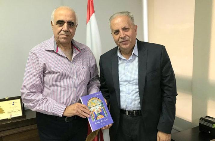 النقيب حوزف القصيفي يستقبل الكاتب سهيل ابو حلا